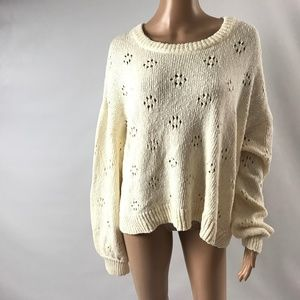 Madewell Floral Pointelle Pullover Sweater XL